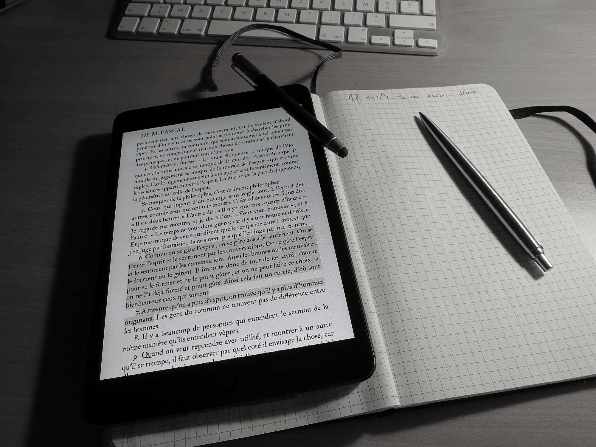 iPad et papier, et alors ?