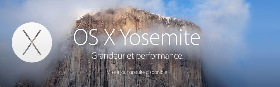 OS X Yosemite : grandeur et performance, dit la pub Apple