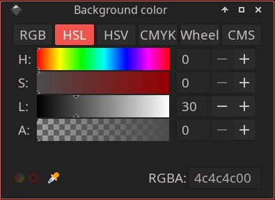 HSL background color selection
