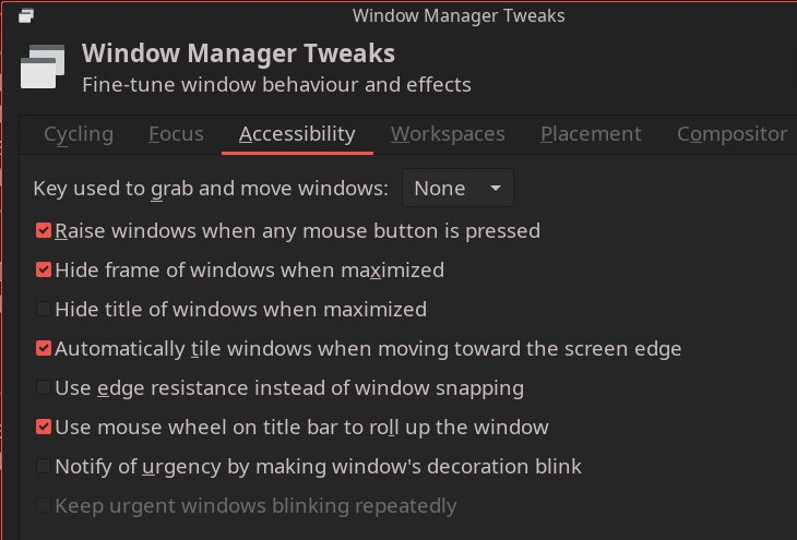 XFCE's accessibility settings